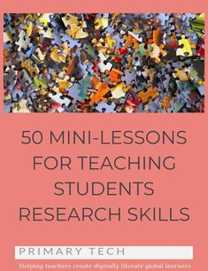 You might be wondering how you can fit teaching research skills into a busy curriculum? There are so many mini-lessons you can do to build students& skills over time, and here are 50 ideas for activities that could be done in just a few minutes. Teaching Strategies, Teaching Writing, Teaching Tools, Teaching English, Teacher Resources, Teaching Ideas, Library Skills, Library Lessons, Library Ideas