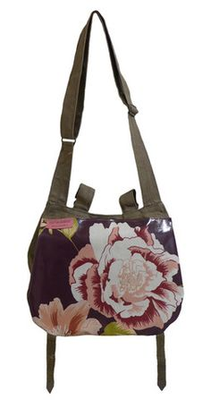 Recycled Army Purple Floral Shoulder Bag - from Parkarma in Amsterdam