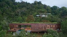 Atelier Villa | Art Villas Costa Rica / Formafatal Costa Rica, Timber Cladding, Exterior Cladding, Carlo Scarpa, Round Light Bulbs, Villas, Ipe Wood, Charred Wood, Dappled Light