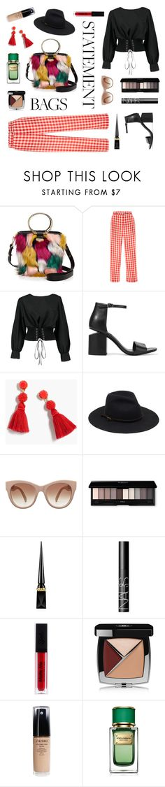 """Oh, no, it's nothing!"" by ravenclaw-phoenix on Polyvore featuring Milly, RED Valentino, Boohoo, Alexander Wang, J.Crew, STELLA McCARTNEY, Christian Louboutin, NARS Cosmetics, Chanel and Shiseido"