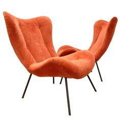 Bon Pair Of Sculptural Italian Lounge Chairs