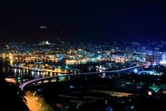 the night view of sasebo Sasebo Japan, Ill Be Here, Beautiful Places To Live, Night, City, World, Travel, People, Viajes