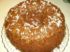 Chocolate Macaroon Bundt Cake Recipe