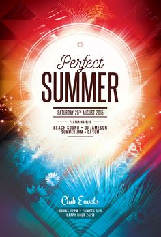 Perfect Summer Flyer Template. Download PSD file - $6