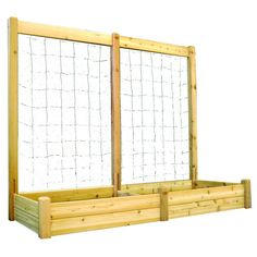 Gronomics 34 in. x 95 in. x 19 in. Raised Garden Bed with 95 in. W x 80 in. H Trellis Kit-RGBT TK – The Home Depot 34 in. x 95 in. x 19 in. Raised Garden Bed with 95 in. W x 80 in. H Trellis Kit Elevated Garden Beds, Cedar Raised Garden Beds, Raised Beds, Raised Planter, Raised Bed Garden Layout, Planter Beds, Cedar Garden, Building Raised Garden Beds, Gravel Garden