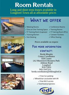 available to hire room room # interview room sessions training Kitchen and canteen sharing office