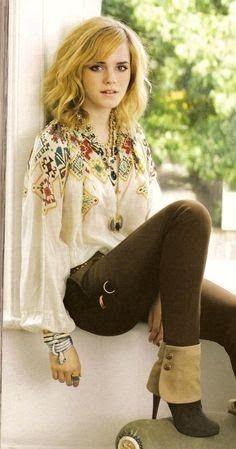 Lovinn the HAAIIIRR and the outfit. Emma Watson is just perfect … Style Emma Watson, Emma Watson Belle, Emma Watson Beautiful, Pretty People, Beautiful People, Looks Style, My Style, Gypsy Style, Estilo Hippie