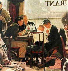 Norman Rockwell, Thanksgiving (Saying Grace), 1951, oil on canvas
