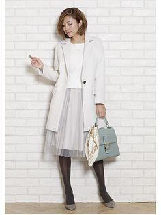 エアリーで女性らしい透けスカートは  ジャケットやアンサンブル...|MERY [メリー]