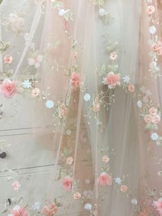 Pearl Flower Lace Fabric in Pink by yard for Flower Girl Flower Applique with Pearl for Victoria Wedding Gowns – Hochzeit meiner Träume Glamouröse Outfits, Stylish Outfits, Beaded Lace Fabric, Victoria Wedding, Princess Aesthetic, Chiffon Flowers, Pink Flowers, Chiffon Dress, Flower Applique