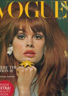 Jean Shrimpton photographed by David Bailey for BRITISH VOGUE's June 1965 issue.