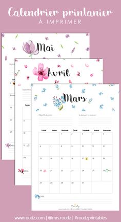Calendrier de printemps à imprimer (mars, avril, mai 2017) Organization Bullet Journal, Journal Organization, Back To School 2017, Black And Gold Theme, Weekly Planner Printable, Printable Calendars, Journal Inspiration, Getting Organized, Avril Mai