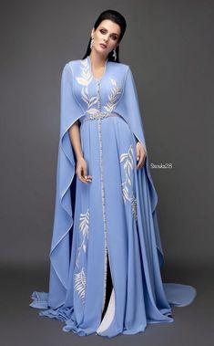 Material: Polyester Silhouette: A-Line Dress Length: Floor-Length Sleeve Length: Three-Quarter Sleeve Neckline: V-Neck Combination Type:. Abaya Fashion, Indian Fashion, Fashion Dresses, Lehnga Dress, Caftan Dress, Mode Abaya, Moroccan Dress, Fashion Tips For Girls, Look Fashion