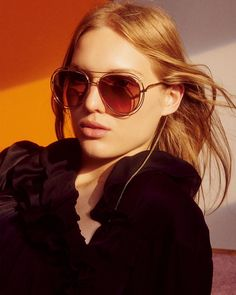 "f20461893755 Chloé on Instagram  ""Retro allure – our iconic Carlina sunglasses come in a  contemporary aviator shape for Spring 2018"