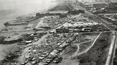 El Camp de la Bota, l'Oliva de Tarragona, el cementiri vell de Girona i el fossar del Garrut de Lleida són alguns dels espais on es van afusellar els represaliats pel franquisme. A la imatge, el Camp de la Bota en aquell temps, on entre 1939 i 1952 s'hi van executar més de 1.700 persones.