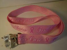 Pink Colored Lanyards for #BreastCancerAwareness