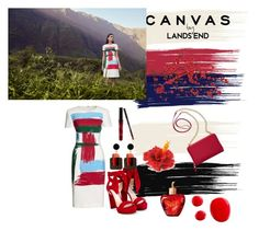 """""""Canvas, color, beauty :)"""" by selmaadis ❤ liked on Polyvore featuring Canvas by Lands' End, Lands' End, Jimmy Choo, Marni, Lolita Lempicka and TravelSmith"""