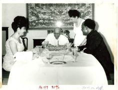 W. E. B. Du Bois Cutting the Birthday Cake for his 95th Birthday in Ghana, 1963
