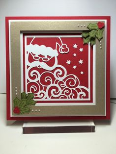 Holly Jolly Santa by Luriko2 - Cards and Paper Crafts at Splitcoaststampers