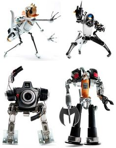 Art of Junk: Adorable Robots Made From Discarded Gadgets #junkbots