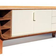 Móveis de madeira: Buffet em madeira estilo retro - Movelaria Boá
