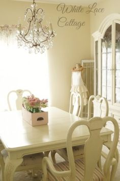 French Chandelier - White Lace Cottage