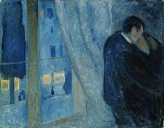 Edvard Munch -Kiss by the Window,1892. Oil on canvas