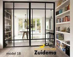 kamer ensuite modern at DuckDuckGo Style At Home, Steel Doors And Windows, Metal Windows, Glass Room Divider, Room Dividers, Internal Doors, Home Fashion, Home And Living, Living Room