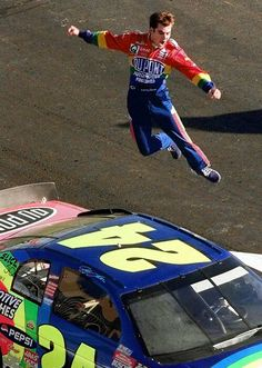 !Jeff Gordon Celebrates winning the Daytona 500. 1997