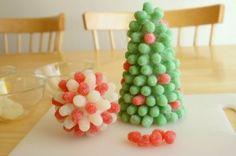Easy Christmas Crafts | Gum Drop Christmas Trees