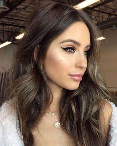 Gorgeous Makeup: Tips and Tricks With Eye Makeup and Eyeshadow – Makeup Design Ideas Beauty Make-up, Beauty Hacks, Hair Beauty, Beauty Tips, Make Up Looks, Brunette Makeup, Brunette Hair, No Eyeliner Makeup, Hair Makeup