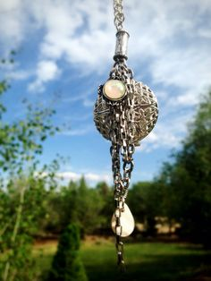 Chains & Shell Silver Essential Oil Diffusing by OverYourHeart, $27.00