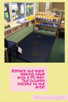 Remove the table in the mark making area and watch the boys flock to the area! EYFS