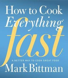 Eat Your Books is giving away a copy of How to Cook Everything Fast, Mark Bittman's new volume. I want it!