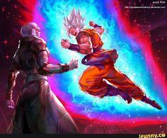 Goku ssj blue kaioken vs Hit art