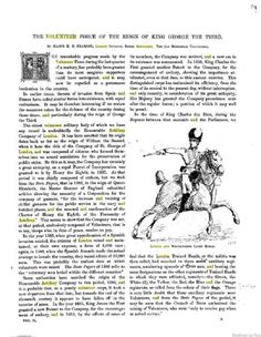 """""""The Volunteer Force of the Reign of King George the Third,"""" p. 89-97, THE ILLUSTRATED NAVAL AND MILITARY MAGAZINE, Vol 2, 1885 (For clearer image, click on link.)"""