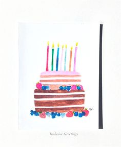 Naked Birthday Cake Card