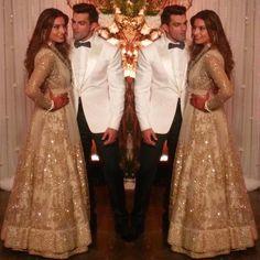 Bipasha Basu & Karan Singh Grover at their reception.