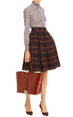 Plaid Wool-Blend Skirt by Stella Jean - Moda Operandi