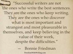 ~ Bonnie Friedman