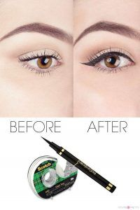 Cool DIY Makeup Hacks for Quick and Easy Beauty Ideas - Perfect Your Liquid Eyeliner - How To Fix Broken Makeup, Tips and Tricks for Mascara and Eye Liner, Lipstick and Foundation Tutorials - Fast Do It Yourself Beauty Projects for Women http://diyjoy.com/makeup-hacks