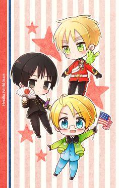 Tuma (TUMART), Axis Powers: Hetalia, Japan, Flying Mint Bunny, United Kingdom, United States, England, America
