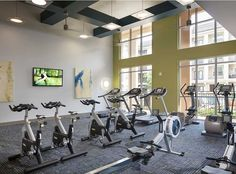State-of-the-art fitness center at AMLI on Maple, luxury apartments in Uptown Dallas