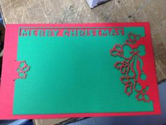 DIY Cards DIY Paper Craft: DIY two piece Christmas card on the laser cutter