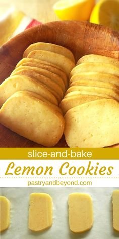 Lemon Slice-and-Bake Cookies-These from scratch lemon slice-and-bake cookies are very light and easy to make! If you are a lemon lover, you should try these homemade, delicious lemon cookies. baking Lemon Slice-and-Bake Cookies Köstliche Desserts, Lemon Desserts, Delicious Desserts, Dessert Recipes, Yummy Food, Dinner Recipes, Plated Desserts, Dessert Ideas, Tasty