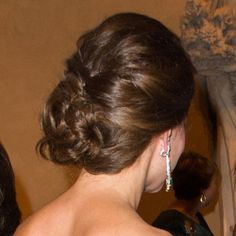 Back of Kate Middleton's swirly braided updo