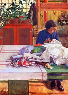 """""""Anna S."""" -- Carl Larsson's painting."""