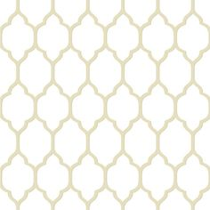 Casabella II Cream and Taupe Moroccan Trellis Wallpaper