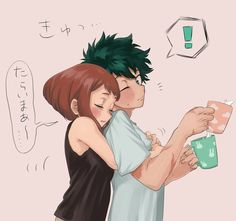 Buko No Hero Academia, My Hero Academia Memes, Hero Academia Characters, My Hero Academia Manga, Anime Couples Drawings, Cute Anime Couples, Hero Manga, Deku Anime, Bakugou And Uraraka