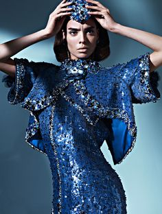 Sabrina Nait by Frederico Di Angelis for Mojeh Magazine (March 2012)  Editorial: Ode To Femininity  Outfit: Chanel Haute Couture (Spring 2012)
